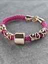 Mlle de style rose®punk rose bracelet tissé à la main