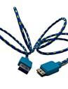 3 pes trancado Tecido Micro USB 3.0 dados cabo do carregador Samsung Nota 3 N9000 S5 i9600