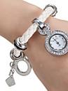 Женские Модные часы Часы-браслет Японский кварц Кварцевый PU Группа Белый