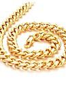 Bijoux Colliers chaines Mariage / Soiree / Quotidien / Decontracte Plaque or Hommes Dore Cadeaux de mariage