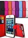 Элегантный кожаный чехол ПУ для iPhone 5с (ассорти цветов)
