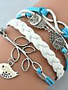 Women\'s Charm Bracelet Wrap Bracelet Leather Bracelet Basic Friendship Fashion Handmade Personalized Multi Layer Costume Jewelry Leather
