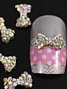 10pcs cristal ab strass arco contas de amarrar 3d liga decoracao de unhas decoracao
