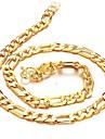 Homme Colliers chaines Plaque or 18K or bijoux de fantaisie Bijoux Pour Mariage Soiree Quotidien Decontracte Regalos de Navidad
