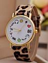 часы моды милые печать леопарда женские (разных цветов)