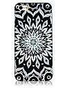 modèle de totem noir et blanc cadre noir au dos du boîtier pour iPhone 4 / 4S