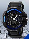 SKMEI Мужской Наручные часы электронные часы LCD Календарь Секундомер Защита от влаги С двумя часовыми поясами тревогаКварцевый Цифровой