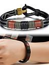 Homme Bracelets en cuir Original bijoux de fantaisie Mode Cuir Bijoux Bijoux Pour Mariage Soiree Quotidien Decontracte Regalos de Navidad