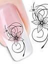 1 Adesivos para Manicure Artistica Transferencia de agua adesivo Flor Abstracto maquiagem Cosmeticos Designs para Manicure