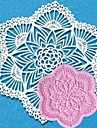 Lace Fondant Cake Chocolate Resin Clay Candy Silicone Mold Mat, L11.1cm*W10.3cm*H0.4cm