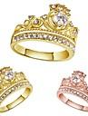 European and American Fashion Crown Diamond Electroplating Ms 18K Gold Ring