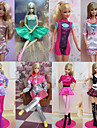 Princess Costumes For Barbie Doll Dresses For Girl\'s Doll Toy