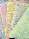 efeito fluorescente i lvoe você padrão papercranes materiais origami (10 páginas / 1 cor / cor aleatória pacote)