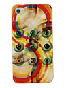Colorful Eyes Pattern PC Hard Back Cover Case for iPhone 4/4S