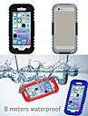 Pour Coque iPhone 6 Coques iPhone 6 Plus Impermeable Coque Coque Integrale Coque Couleur Pleine Flexible Silicone pouriPhone 6s Plus/6