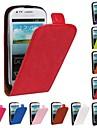 삼성 갤럭시 S3 미니 i8190에 대한 플립 오픈 말 곡물 PU 가죽 전체 바디 케이스 (모듬 색상)