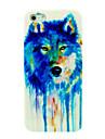 красочные смешанные волк шт случай для IPhone 5/5s