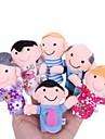 Family Members Baby Finger Puppets Baby Tell Stories Helper Stuffed Plush Dolls