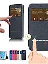 смарт переднего стекла искусственная кожа флип чехол для iphone 6 плюс