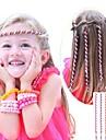 Corda cabelo encaracolado 6pcs 24 centimetros infantil rosa