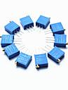 3296 haute precision 104 100k ohms resistance variable potentiometre coupe - bleu (10 pieces)