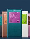 Para Samsung Galaxy Capinhas Case Tampa Impermeavel com Visor Corpo Inteiro Capinha Cor Unica Macia Couro PU para SamsungS8 S8 Plus S7