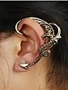 Punhos da orelha Europeu Liga Formato de Cruz Dragao Prata Bronze Joias Para Casamento Festa Diario Casual 1peca