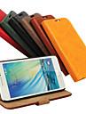 Pour Samsung Galaxy Coque Porte Carte / Avec Support / Clapet / Magnetique Coque Coque Integrale Coque Couleur Pleine Cuir PU Samsung A3