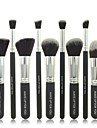 10pcs pinceau cosmétique noir mis ensembles professionnels de pinceau outils de maquillage Maquillage bas ensembles de brosses