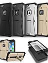 Pour Coque iPhone 6 Coques iPhone 6 Plus Avec Support Coque Coque Integrale Coque Armure Dur Polycarbonate pouriPhone 6s Plus/6 Plus