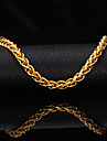 U7® High Quality 18K Gold Filled Twisted Singapore Link Chain Bracelet for Men Women 7MM 21CM Christmas Gifts