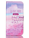 For Samsung Galaxy Case Wallet / Card Holder / with Stand / Flip Case Full Body Case Word / Phrase PU Leather SamsungS6 edge / S6 / S5
