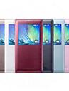 Para Samsung Galaxy Capinhas com Visor / Flip Capinha Corpo Inteiro Capinha Cor Unica Couro PU Samsung A8 / A7 / A5 / A3