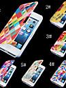 теплый тонированное красочные ПУ кожа полный случай орган по iPhone 4 / 4s (ассорти цветов)