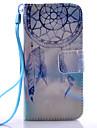 삼성 갤럭시 s3mini / s4mini / s5mini / S5 / S6 / S6 가장자리 / S6 에지 보라색 벨 패턴 PU 소재 매는 스탠드 전화 케이스 +