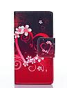 제품 화웨이 케이스 P8 Lite 케이스 커버 지갑 카드 홀더 스탠드 플립 풀 바디 케이스 심장 하드 인조 가죽 용 Huawei Huawei P8 Lite
