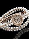 Женские Модные часы Часы-браслет Уникальный творческий часы Имитация Алмазный Кварцевый сплав ГруппаБлестящие Богемные Жемчуг Элегантные