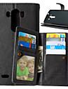 For LG Case Card Holder / Wallet / with Stand / Flip Case Full Body Case Solid Color Hard PU Leather for LGLG K10 / LG K8 / LG K7 / LG G5