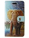 Для Samsung Galaxy Note Кошелек / Бумажник для карт / со стендом / Флип Кейс для Чехол Кейс для Слон Искусственная кожа SamsungNote 4 /