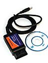 mini-USB ELM327 v1.5 deteccao carro obdii ferramenta de exame de diagnostico - azul
