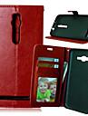 Для Кейс для Asus Кошелек / Бумажник для карт / со стендом / Флип Кейс для Чехол Кейс для Один цвет Твердый Искусственная кожа Asus
