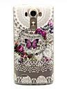 Pour Coque LG Motif Coque Coque Arriere Coque Papillon Flexible PUT pour LG LG G3
