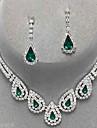 Femme Set de Bijoux Boucles d\'oreille goutte Pendentif de collier Elegant Mariee Fete / Celebration bijoux de fantaisie Gemme Imitation