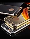 Pour Coque iPhone 6 Coques iPhone 6 Plus Antichoc Miroir Coque Coque Arriere Coque Couleur Pleine Dur Metal pouriPhone 6s Plus/6 Plus