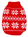 Dog Sweater Dog Clothes Keep Warm Christmas New Year\'s Snowflake Red Blue