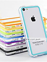 DF Dual Color Middle Transparent TPU Soft Bumper for iPhone 5C