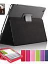 magnetico sono virar capa de couro lichia para ipad tablet cobertura aerea com protetor de tela gratis + caneta