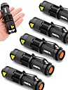 SK68 Lampes Torches LED LED 2000 Lumens 3 Mode Cree XR-E Q5 Batteries non incluses Faisceau Ajustable Resistant aux impacts Impermeable