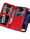 용 Samsung Galaxy S7 Edge 지갑 / 카드 홀더 / 플립 / 마그네틱 케이스 풀 바디 케이스 단색 인조 가죽 Samsung S7 edge / S7 / S6 edge plus / S6 edge / S6 / S5 / S4