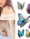 1 Tatouages Autocollants Series animales ImpermeableHomme Femme Adulte Tatouage Temporaire Tatouages temporaires